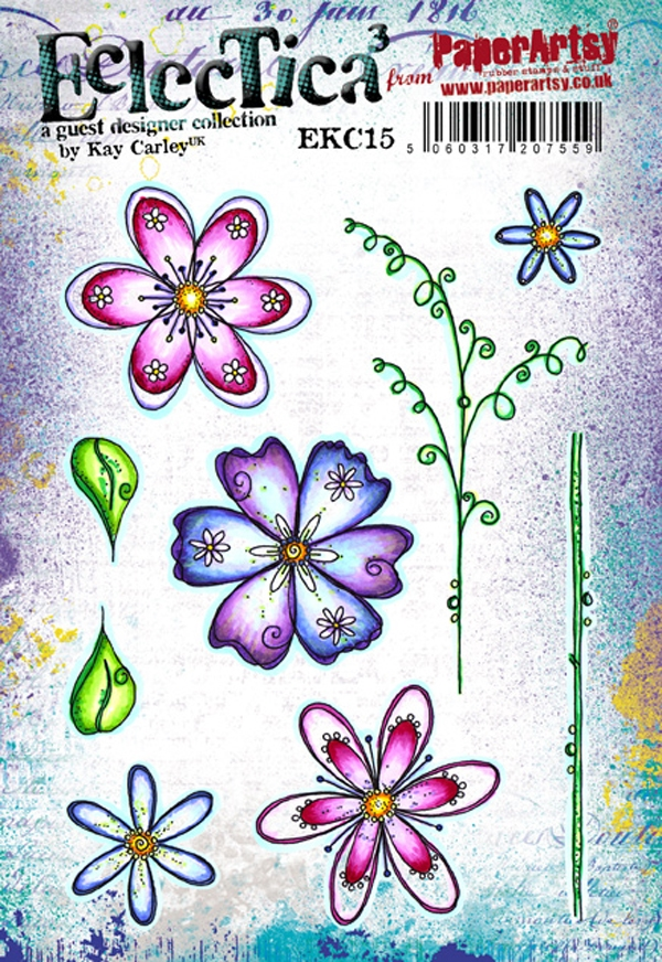 Paper Artsy ECLECTICA3 KAY CARLEY 15 Rubber Cling Stamp EKC15 zoom image