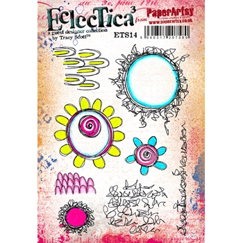 Paper Artsy ECLECTICA3 TRACY SCOTT 14 Rubber Cling Stamp ETS14