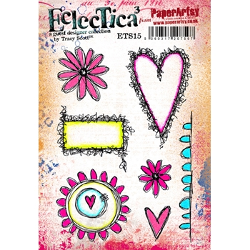 Paper Artsy ECLECTICA3 TRACY SCOTT 15 Rubber Cling Stamp ETS15