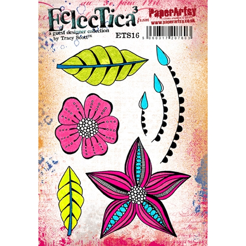 Paper Artsy ECLECTICA3 TRACY SCOTT 16 Rubber Cling Stamp ETS16* Preview Image