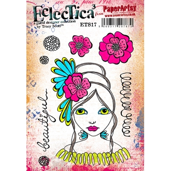 Paper Artsy ECLECTICA3 TRACY SCOTT 17 Rubber Cling Stamp ETS17