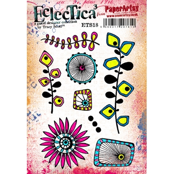 Paper Artsy ECLECTICA3 TRACY SCOTT 18 Rubber Cling Stamp ETS18