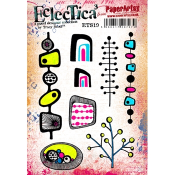 Paper Artsy ECLECTICA3 TRACY SCOTT 19 Rubber Cling Stamp ETS19