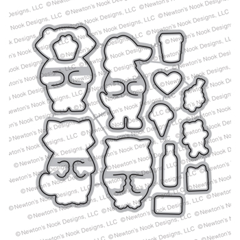 Newton's Nook Designs SENDING HUGS Die Set NN1801D04