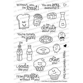Newton's Nook Designs LOVE BITES Clear Stamp Set NN1801S02