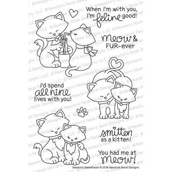 Newton's Nook Designs NEWTON'S SWEETHEART Clear Stamp Set NN1801S03