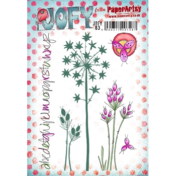 Paper Artsy JOFY 63 Rubber Cling Stamp JOFY63
