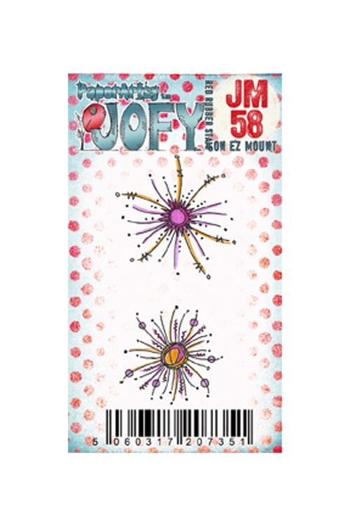 Paper Artsy JOFY MINI 58 Rubber Cling Stamp JM58 zoom image