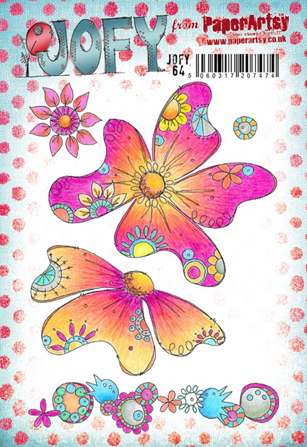 Paper Artsy JOFY 64 Rubber Cling Stamp JOFY64 zoom image