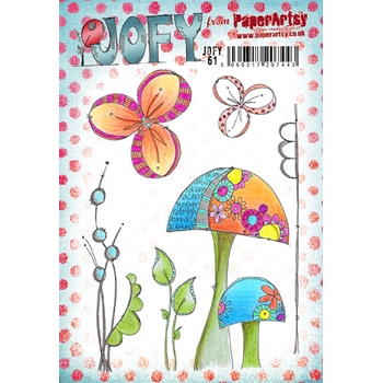 Paper Artsy JOFY 61 Rubber Cling Stamp JOFY61