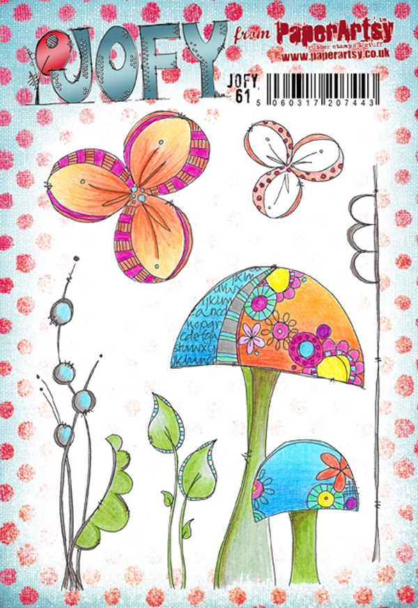Paper Artsy JOFY 61 Rubber Cling Stamp JOFY61 zoom image