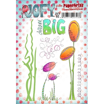 Paper Artsy JOFY 60 Rubber Cling Stamp JOFY60