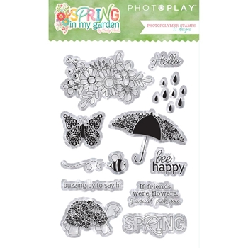 PhotoPlay SPRING IN MY GARDEN Clear Stamps sg8831