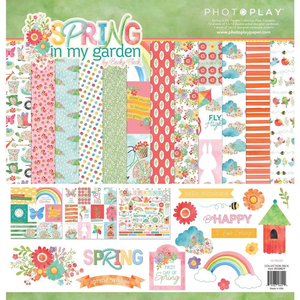 PhotoPlay SPRING IN MY GARDEN 12 x 12 Collection Pack sg8829* zoom image