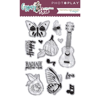 PhotoPlay GYPSY ROSE Clear Stamps gy8820