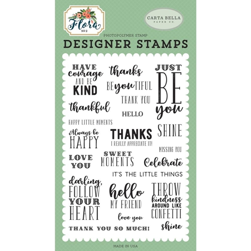 Carta Bella JUST BE YOU Clear Stamps cbflo79042 Preview Image