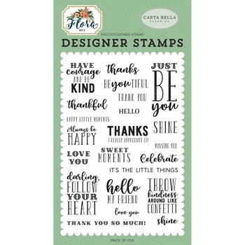 Carta Bella JUST BE YOU Clear Stamps cbflo79042