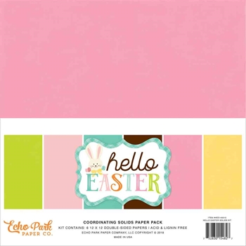 Echo Park HAPPY EASTER 12 x 12 Double Sided Solids Paper Pack hee145015