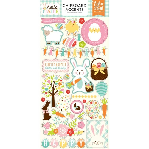 Echo Park HELLO EASTER Chipboard Accents hee145021* Preview Image