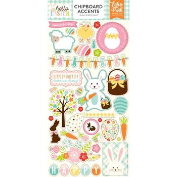 Echo Park HELLO EASTER Chipboard Accents hee145021*