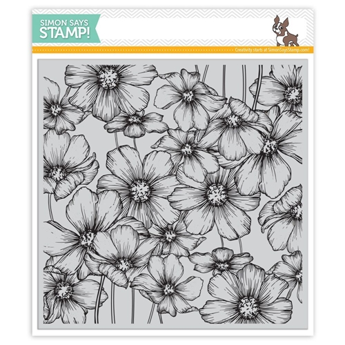 Simon Says Cling Rubber Stamp COSMOS Background
