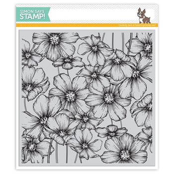 Simon Says Cling Rubber Stamp COSMOS Background sss101802 Love