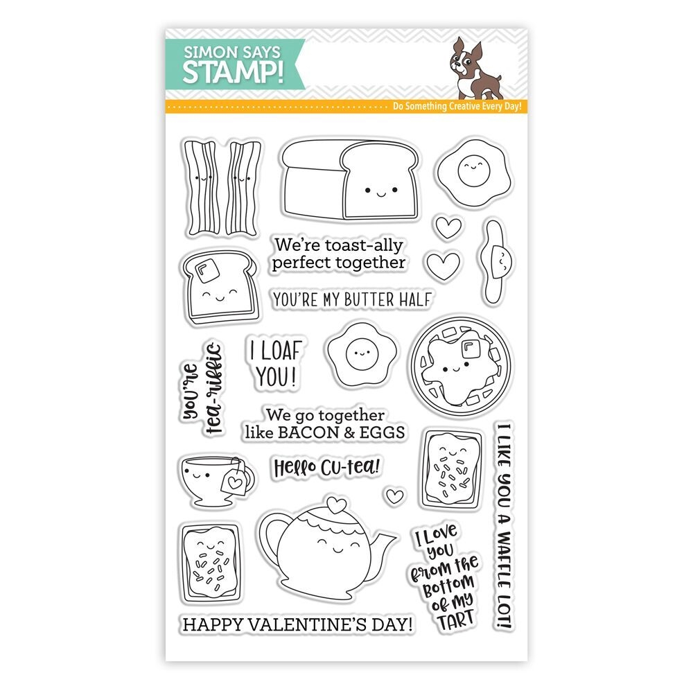 Simon Says Clear Stamps BREAKFAST BUDDIES sss101818 Love zoom image