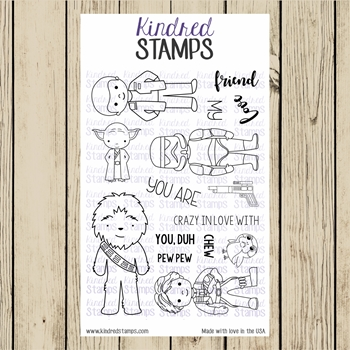 Kindred Stamps GALACTIC ADVENTURES THE THIRD Clear Stamp Set ks6787