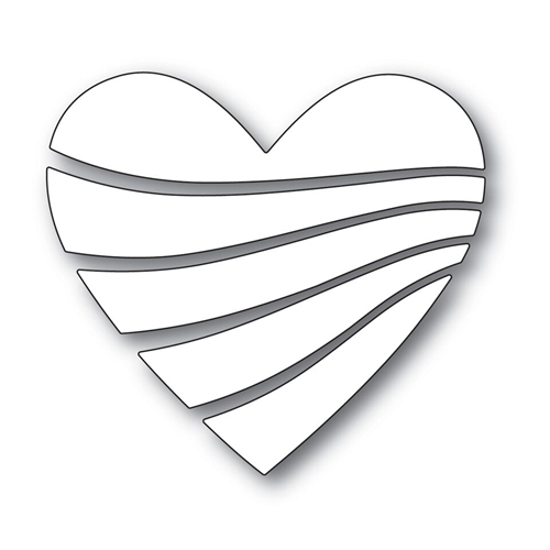 RESERVE Simon Says Stamp STREAMING HEART Wafer Dies s530 Love Preview Image