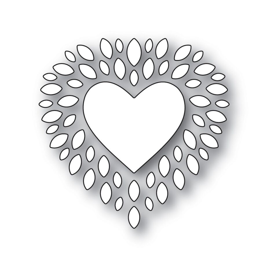 Simon Says Stamp CUPIDS HEART Wafer Dies s531 Love zoom image