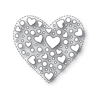 Simon Says Stamp SPRINKLE HEART Wafer Dies s532 Love