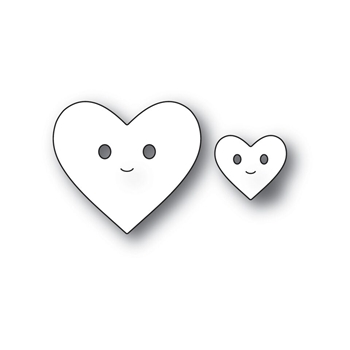 Simon Says Stamp HAPPY HEARTS Wafer Dies s536 Love