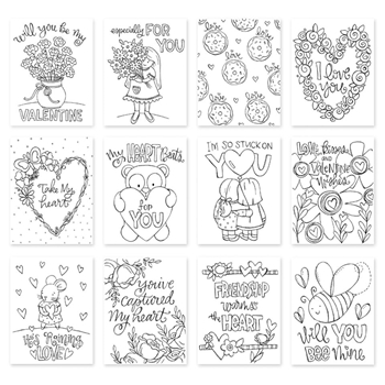 Simon Says Stamp Suzy's LOVE AND FRIENDSHIP Watercolor Prints swlf18 Love
