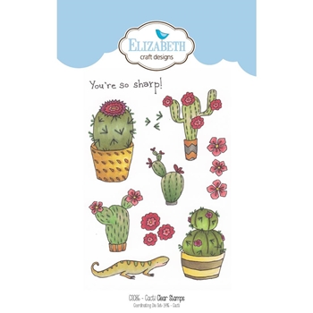 Elizabeth Craft Designs Clear Stamps CACTI CS086
