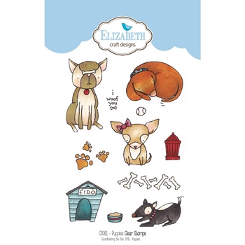 Elizabeth Craft Designs Clear Stamps PUPPIES CS081