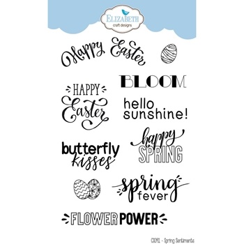 Elizabeth Craft Designs Clear Stamps SPRING SENTIMENTS CS091