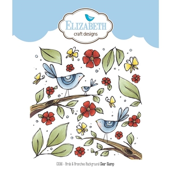 Elizabeth Craft Designs Clear Stamps BIRDS AND BRANCHES BACKGROUND CS088