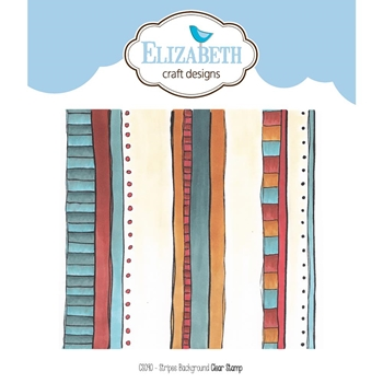 Elizabeth Craft Designs Clear Stamps STRIPES BACKGROUND CS090
