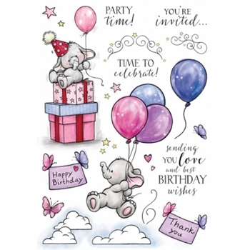Wild Rose Studio BELLA'S PARTY 2 Clear Stamp Set AS007