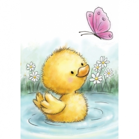 Wild Rose Studio Little Duck Clear Stamp
