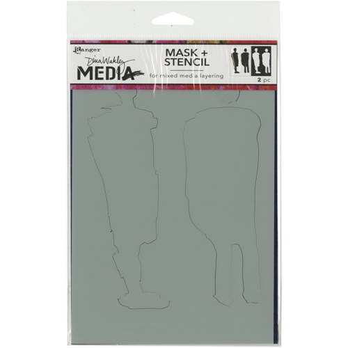 Dina Wakley GIANT FUNKY SILHOUETTES Media Stencil MDS60611 Preview Image