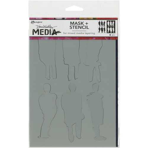 Dina Wakley FUNKY SILHOUETTES Media Stencil MDS60604 Preview Image