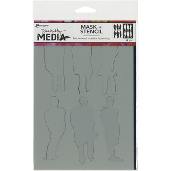 Dina Wakley FUNKY SILHOUETTES Media Stencil MDS60604