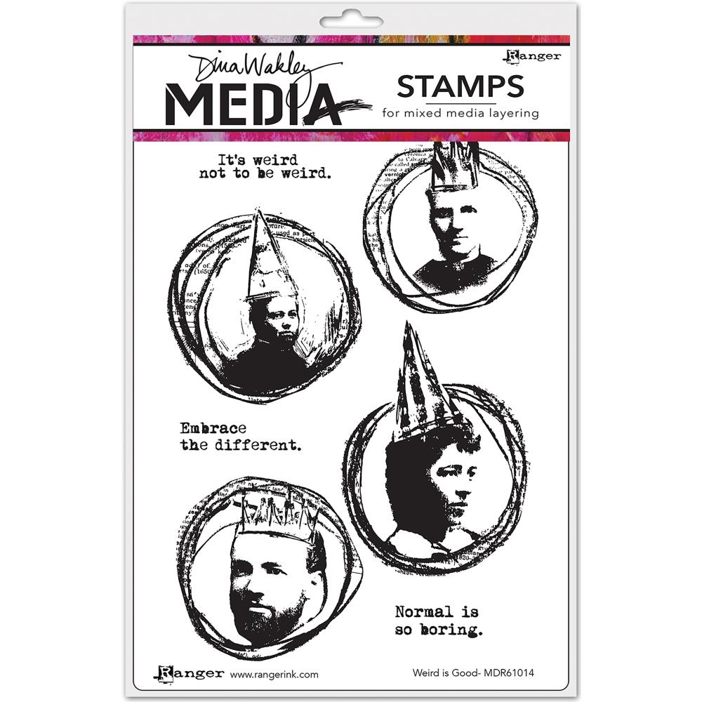 Dina Wakley WEIRD IS GOOD Media Cling Rubber Stamp MDR61014 zoom image
