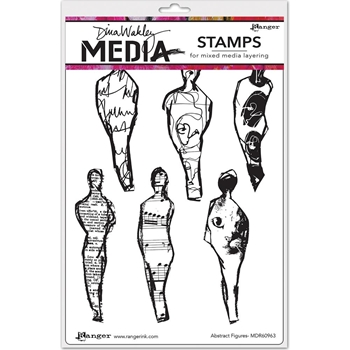 Dina Wakley ABSTRACT FIGURES Media Cling Rubber Stamp MDR60963