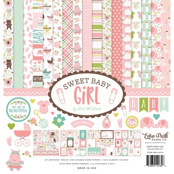 Echo Park SWEET BABY GIRL 12 x 12 Collection Kit sbg142016