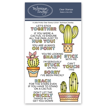 Technique Tuesday A LITTLE PRICKLY Clear Stamps 02608
