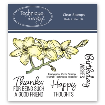 Technique Tuesday FRANGAPANI Clear Stamps 02562