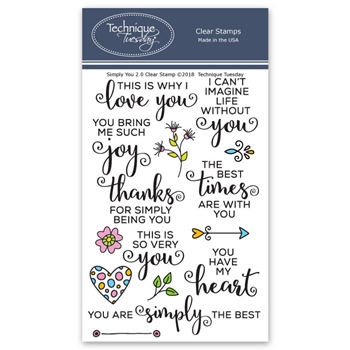 Technique Tuesday SIMPLY YOU 2.0 Clear Stamps 02599