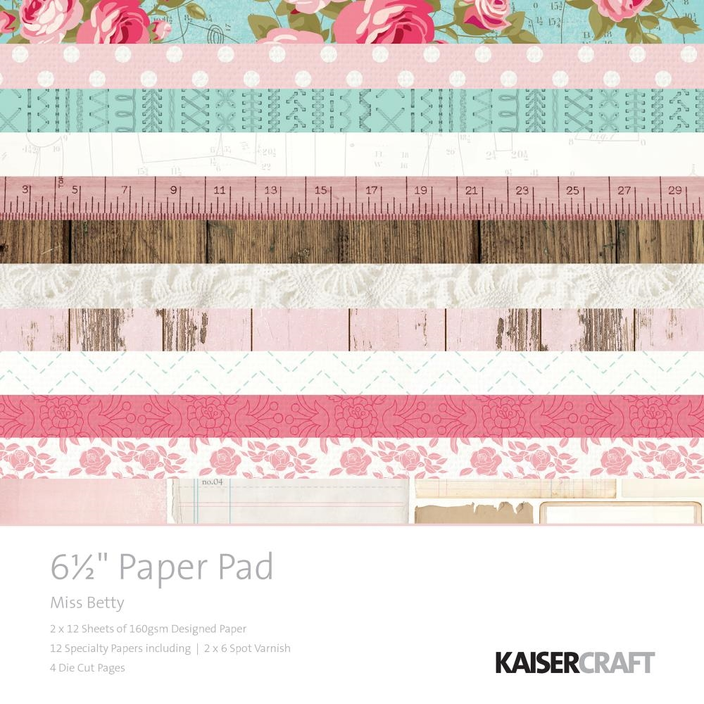Kaisercraft MISS BETTY 6.5 x 6.5 Inch Paper Pad PP1038 zoom image